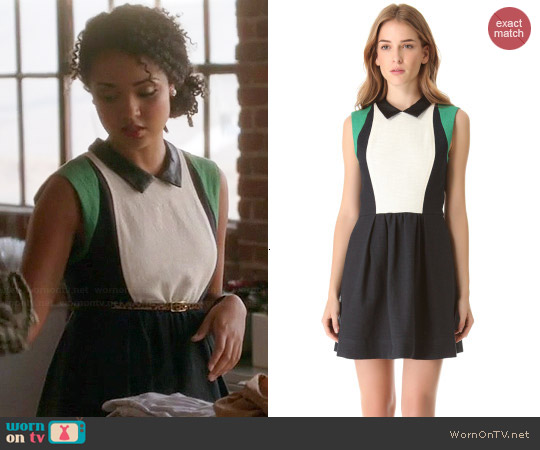 Sea Pauline Colorblock Dress worn by Aisha Dee on Chasing Life
