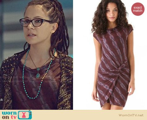 See by Chloe Detroit Dress worn by Tatiana Maslany on Orphan Black