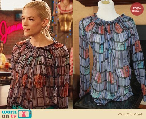 See by Chloe Sheer Geometric Print Blouse worn by Jaime King on Hart of Dixie