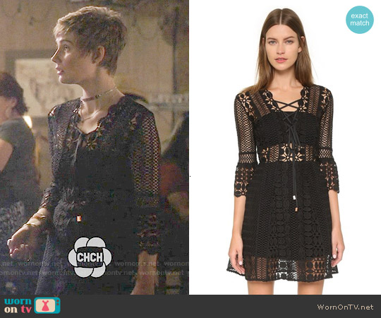 Self Portrait A Line Lace Up Dress worn by Clare Bowen on Nashville