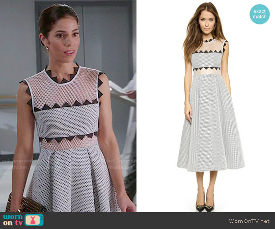 Self Portrait Lucille Dress worn by Ana Ortiz on Devious Maids
