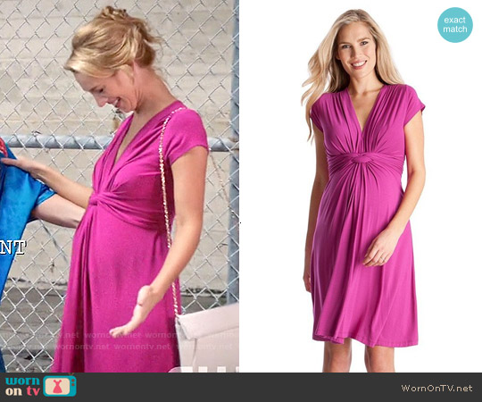 Seraphine 'Jolene' Knot Front Maternity Dress worn by Yael Grobglas on Jane the Virgin