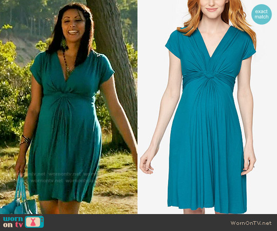 Seraphine Twist Front A-Line Dress worn by Reshma Shetty on Royal Pains