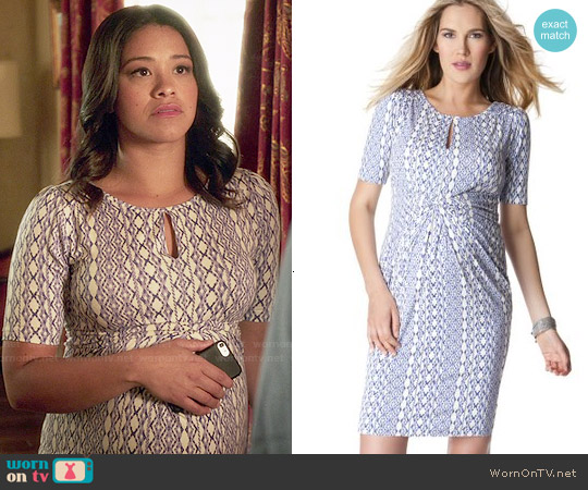 Seraphine Twist Front Maternity Dress worn by Gina Rodriguez on Jane the Virgin