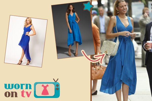 Serena van der Woodsen's blue dress on Gossip Girl Season 6 Episode 2