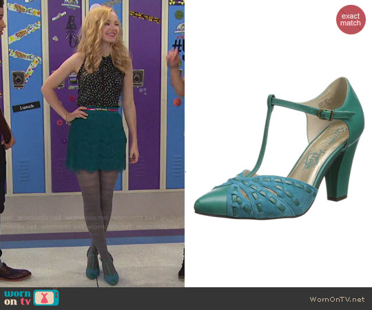 Seychelles Portrait Pumps in Teal worn by Dove Cameron on Liv & Maddie