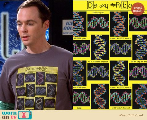 Sheldon's De Oxy Ribo DNA Tee by Thinker Clothing