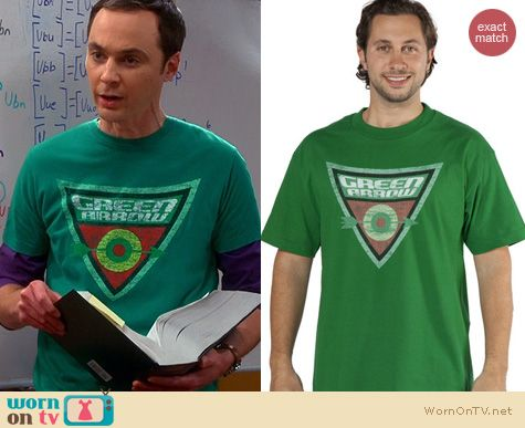Sheldon's green arrow tshirt