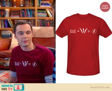 Sheldon's Shirts: Flash equation shirt from The Comic Centre Pasadena