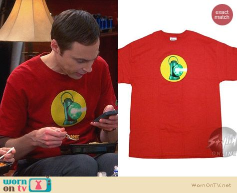 Sheldon's Shirts: Green Lantern Alan Scott Logo T-Shirt worn on The Big Bang Theory