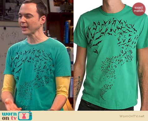 Sheldon's Shirts: Urban Outfitters Green Bat Tshirt