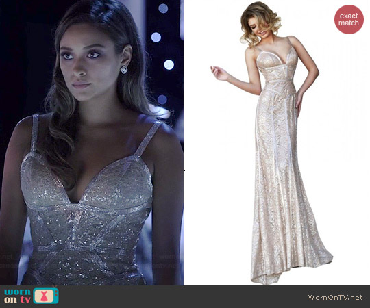 Sherri Hill Dress 11157 worn by Shay Mitchell on PLL