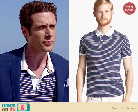 Shipley & Halmos Broome Striped Polo worn by Paulo Constanzo on Royal Pains