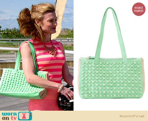 Shiraleah Mira Satchel in Mint worn by Brooke D'Orsay on Royal Pains
