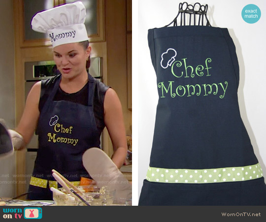 Shopmemento Personalized Apron & Chef Hat by Shopmemento worn by Heather Tom on The Bold & the Beautiful