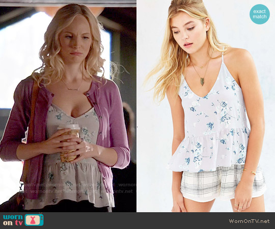 Silence + Noise Isabelle Cami in Grey worn by Candice Accola on The Vampire Diaries