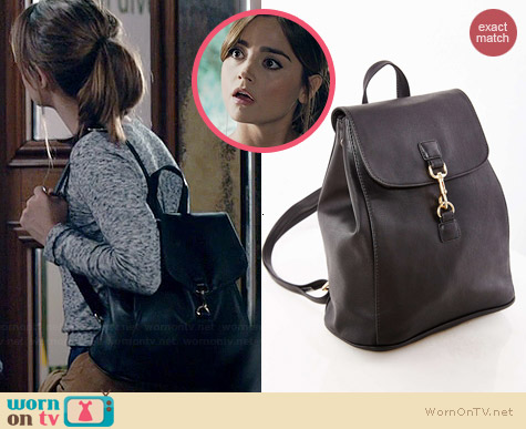 Silence & Noise Marta Minimalist Backpack worn by Jenna Coleman on Doctor Who