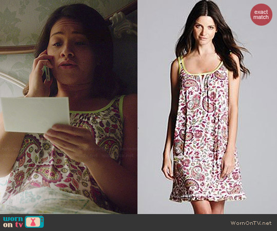 Simply Vera Vera Wang Printed Chemise worn by Gina Rodriguez on Jane the Virgin
