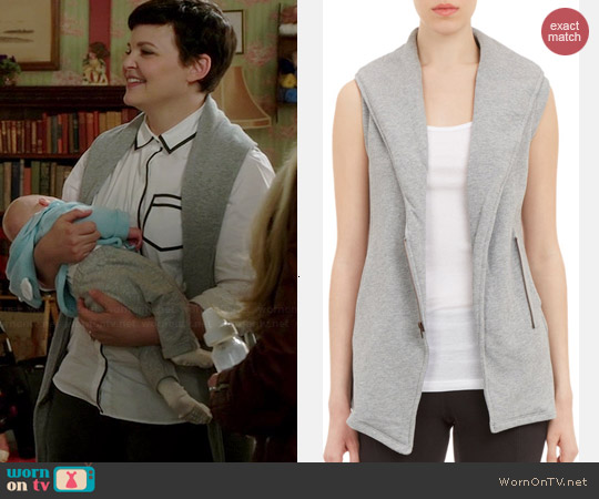 SKIN Asymmetric Zip-Front Vest worn by Ginnifer Goodwin on OUAT