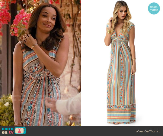 Sky Phernit Maxi Dress worn by Rochelle Aytes on Mistresses