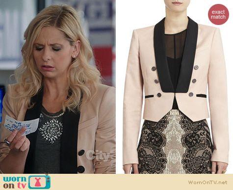 Sarah Michelle Gellar Fashion: BCBGMAXAZRIA Anja Jacket worn on The Crazy Ones