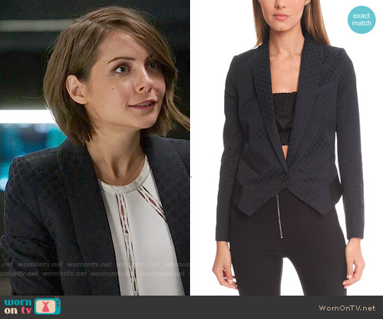 Smythe Anytime Blazer worn by Thea Queen on Arrow