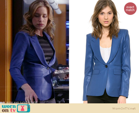 Smythe Blue Peaked Lapel Blazer worn by Piper Perabo on Covert Affairs
