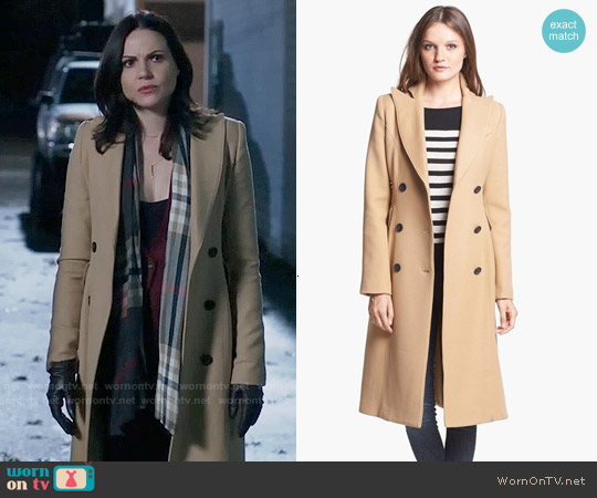 Smythe Reefer Coat worn by Regina Mills on OUAT