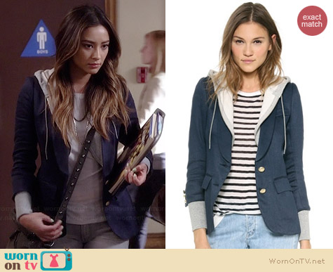 Smythe Reissue Schoolboy Blazer worn by Shay Mitchell on PLL