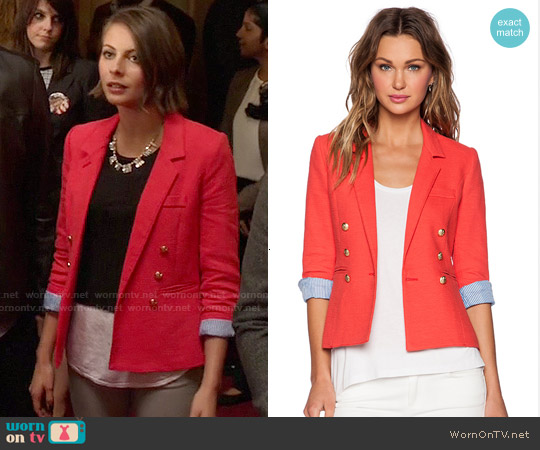 Smythe Rumpled College Blazer worn by Willa Holland on Arrow