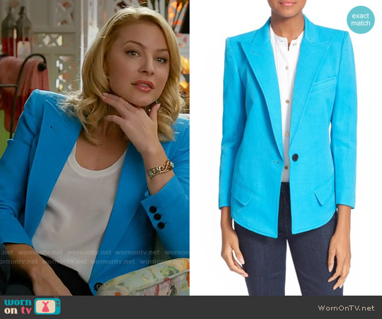 Smythe Sharp Shoulder Blazer worn by Tabrett Bethell on Mistresses