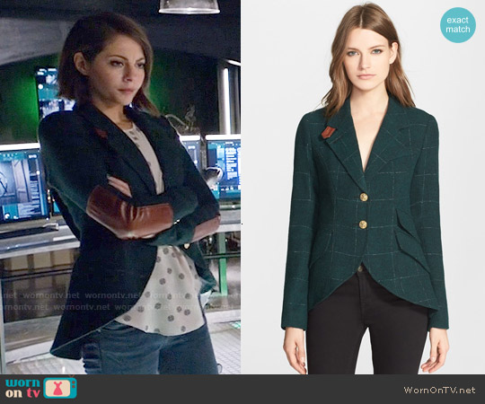 Smythe Wool Blend Hunting Jacket worn by Thea Queen on Arrow