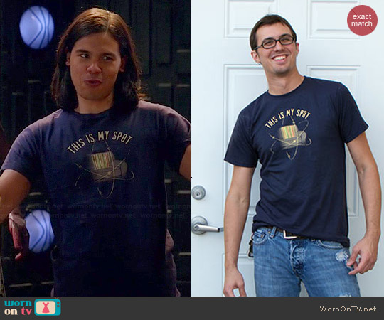 Snorg Tees This is My Spot Tee worn by Carlos Valdes on The Flash