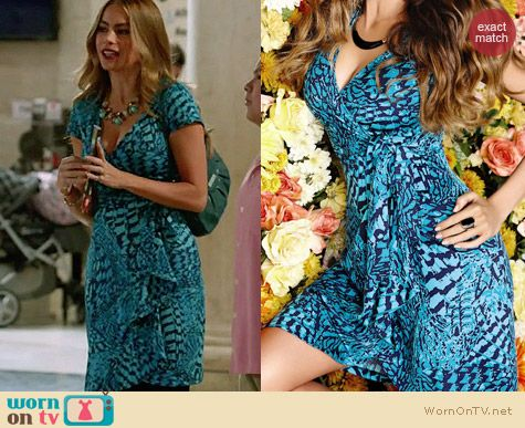 Sofia Vergara for KMart Ruffle Front Wrap Dress worn on Modern Family