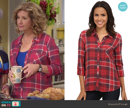 Soft Joie Anabella Plaid Shirt worn by Nancy Travis on Last Man Standing