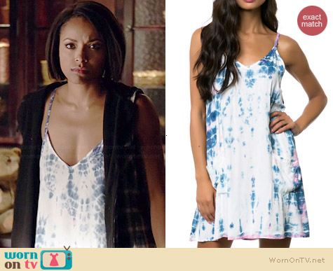 Some Days Lovin Kwando Tie Dye Dress worn by Kat Graham on The Vampire Diaries