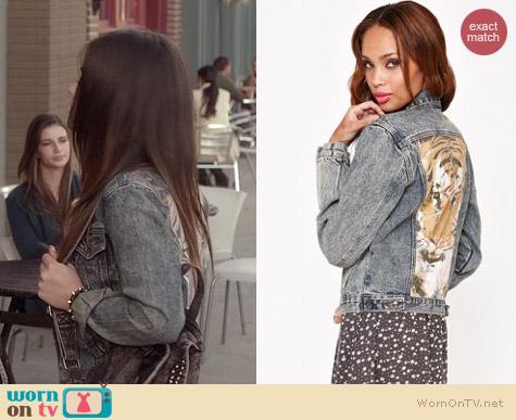 Some Days Lovin Wild One Jacket worn by Lucy Hale on PLL