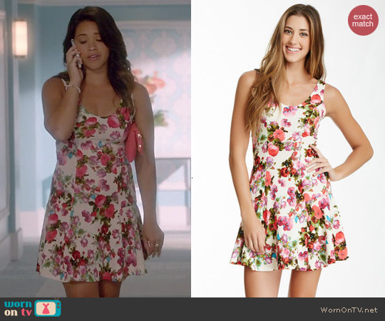 Soprano Floral Flippy Dress worn by Gina Rodriguez on Jane the Virgin