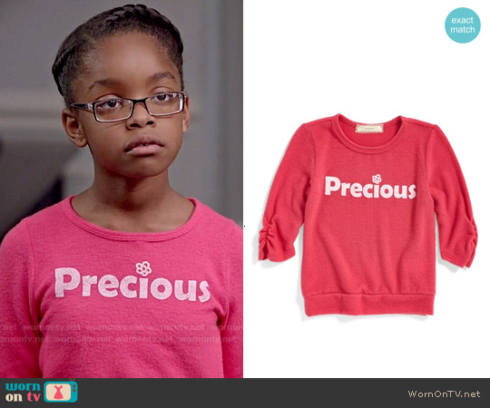 Soprano 'Precious' Sweatshirt worn by Marsai Martin on Blackish