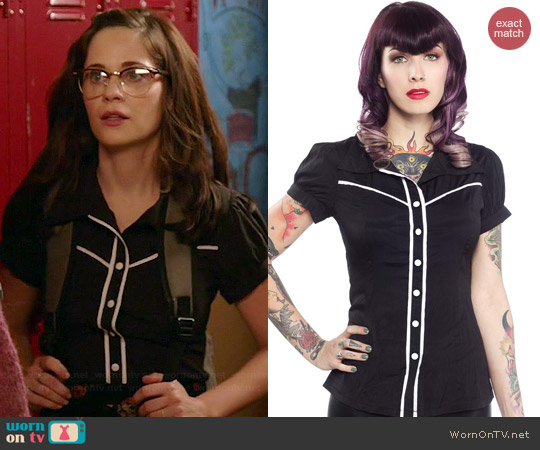 Sourpuss Jolene Top worn by Zooey Deschanel on New Girl