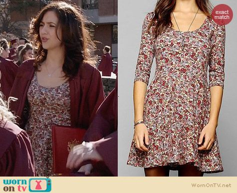 Sparkle & Fade 3/4 Sleeve Knit Skater Dress worn by Maggie Landers on The Carrie Diaries