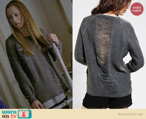 Sparkle & Fade Slit Pullover Sweater worn by Taissa Farmiga on AHS Coven