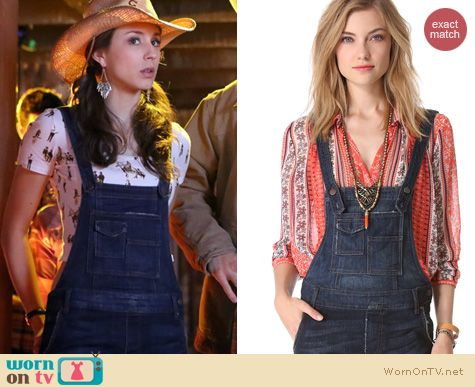Spencer Hastings Fashion: Free People Washed Cord Denim Overalls worn on PLL