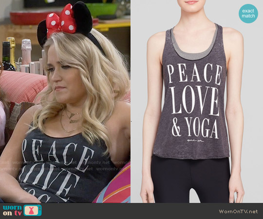 Spiritual Gangster Peace Love & Yoga Tank worn by Emily Osment on Young & Hungry
