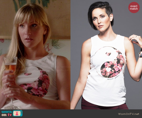 Spiritual Gangster Yin Yang Muscle Tank worn by Heather Morris on Glee