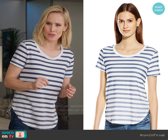 Splendid Sunfaded Striped T-shirt worn by Kristen Bell on The Good Place