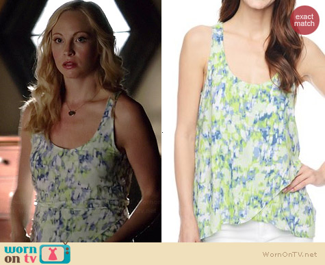 Splendid Desert Rain Tie Dye Tank in Citronelle worn by Candice Accola on The Vampire Diaries