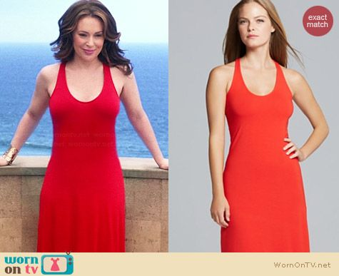 Splendid Jersey Maxi Dress in Fiesta worn by Alyssa Milano on Mistresses