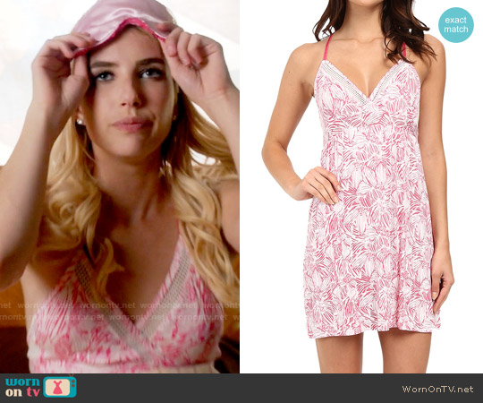Spendid Mesh Trim Chemise worn by Emma Roberts on Scream Queens