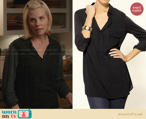 Splendid Shirting Top worn by Monica Potter on Parenthood